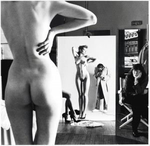 helmut-newton-self-portrait-with-wife-and-models-1980